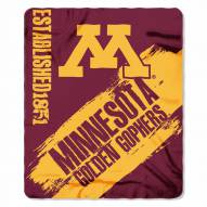 Minnesota Golden Gophers Painted Fleece Blanket