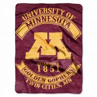 Minnesota Golden Gophers Rebel Raschel Throw Blanket
