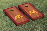 Minnesota Golden Gophers Rosewood Stained Border Cornhole Game Set