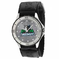 Minnesota Timberwolves Veteran Velcro Mens Watch