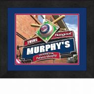 Minnesota Twins 13 x 16 Personalized Framed Sports Pub Print