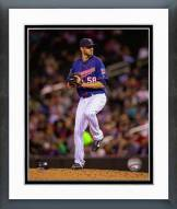 Minnesota Twins A.J. Achter 2014 Action Framed Photo