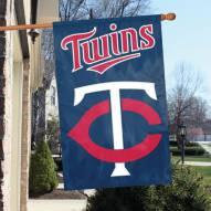 Minnesota Twins Appliqué 2-Sided Banner Flag