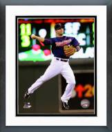 Minnesota Twins Brian Dozier 2014 Action Framed Photo