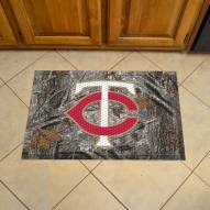 Minnesota Twins Camo Scraper Door Mat