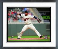 Minnesota Twins Eduardo Escobar 2014 Action Framed Photo