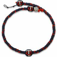 Minnesota Twins Frozen Rope Color Baseball Necklace
