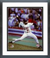 Minnesota Twins Jeff Reardon 1987 World Series Action Framed Photo
