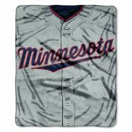 Minnesota Twins Jersey Raschel Throw Blanket
