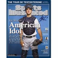 """Minnesota Twins Joe Mauer ?American Idol? Sports Illustrated Signed 16"""" x 20"""" Photo"""