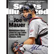"""Minnesota Twins Joe Mauer ?Chasing .400? Sports Illustrated Signed 16"""" x 20"""" Photo"""