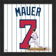Minnesota Twins Joe Mauer Uniframe Framed Jersey Photo