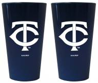 Minnesota Twins Lusterware Pint Glass - Set of 2