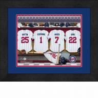 Minnesota Twins Personalized Locker Room 13 x 16 Framed Photograph