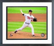 Minnesota Twins Phil Hughes 2014 Action Framed Photo