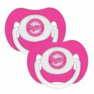 Minnesota Twins Pink Pacifiers - 2 Pack