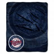 Minnesota Twins Retro Raschel Throw Blanket