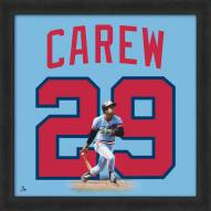 Minnesota Twins Rod Carew Uniframe Framed Jersey Photo