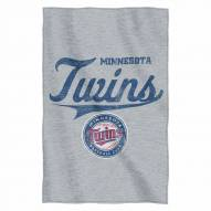Minnesota Twins Script Sweatshirt Throw Blanket