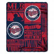 Minnesota Twins Strength Fleece Blanket