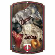 "Minnesota Twins ""Throwback"" Wood Sign"