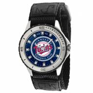 Minnesota Twins Veteran Velcro Mens Watch