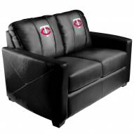 Minnesota Twins XZipit Silver Loveseat with Secondary Logo