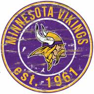 "Minnesota Vikings 24"""" Round Wood Sign"