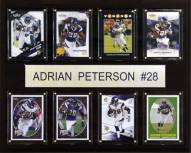 "Minnesota Vikings Adrian Peterson 12"" x 15"" Card Plaque"