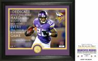 Minnesota Vikings Adrian Peterson Quote Bronze Coin Photo Mint