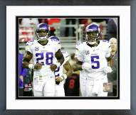 Minnesota Vikings Adrian Peterson & Teddy Bridgewater 2015 Action Framed Photo