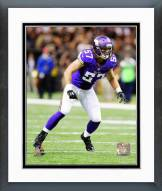 Minnesota Vikings Audie Cole 2014 Action Framed Photo