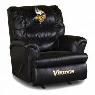 Minnesota Vikings Big Daddy Leather Recliner