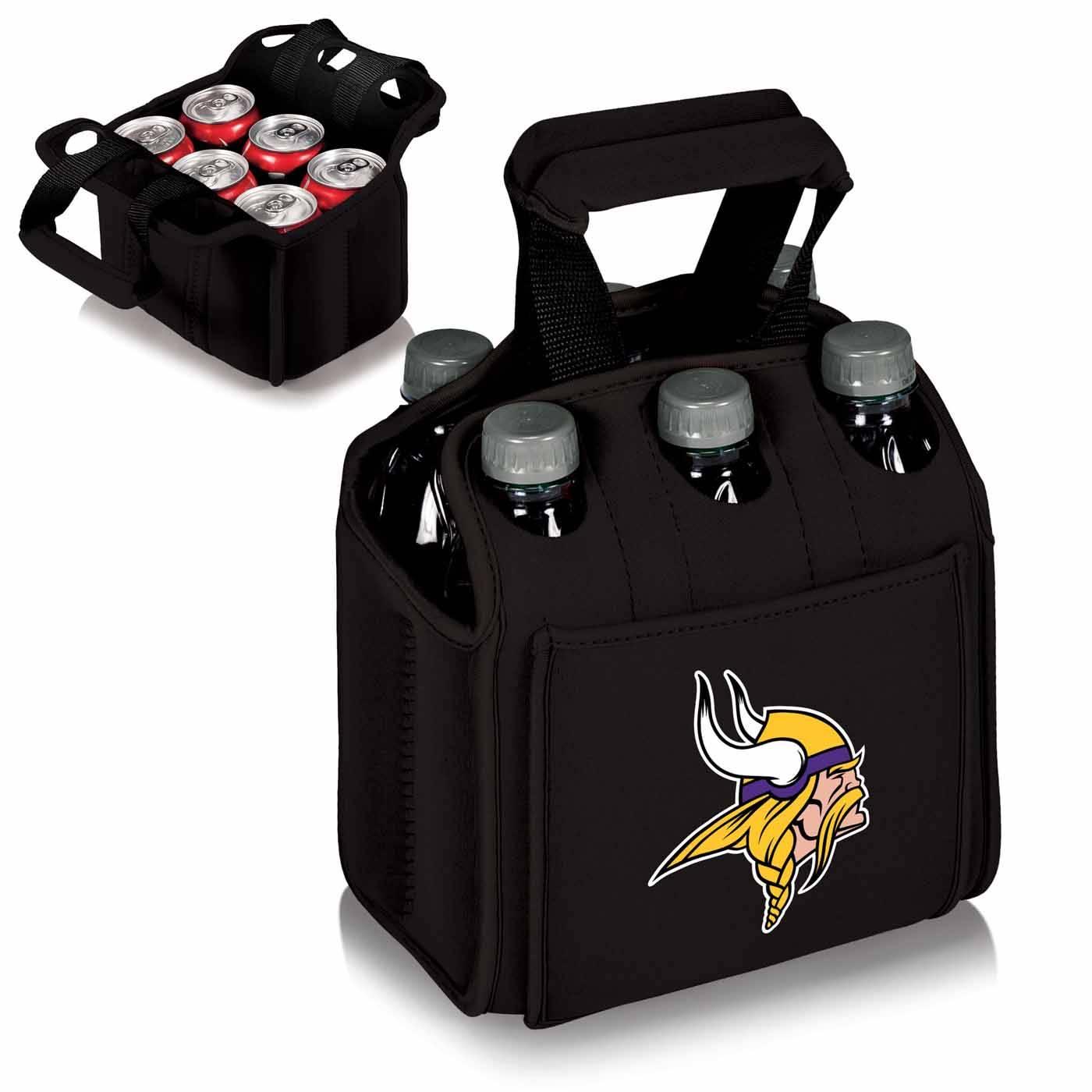6 Pack Cooler ~ Minnesota vikings black six pack cooler tote
