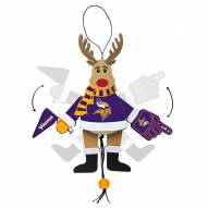 Minnesota Vikings Cheering Reindeer Ornament