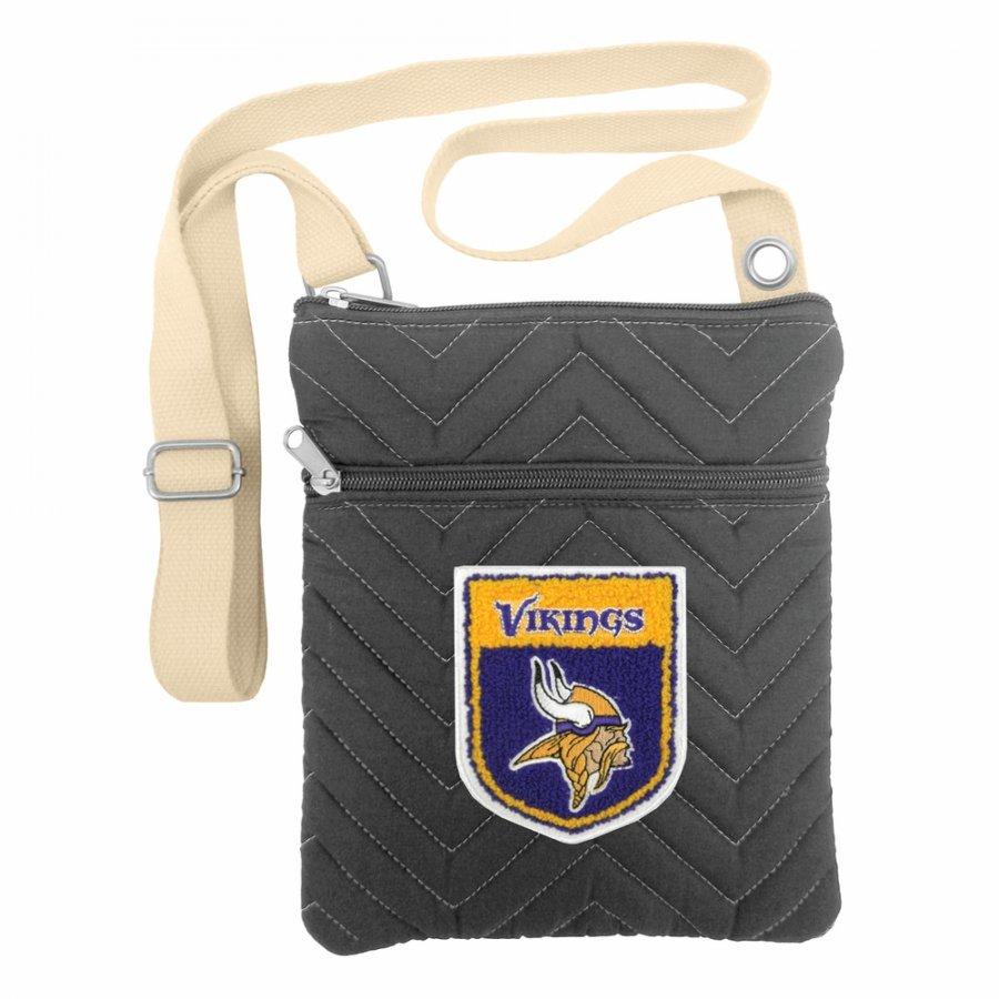 Minnesota Vikings Crest Chevron Crossbody Bag