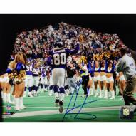 "Minnesota Vikings Cris Carter Coming Out Of The Tunnel w/ HOF Signed 16"" x 20"" Photo"