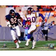 """Minnesota Vikings Cris Carter Running vs Bears Defender w/ HOF Signed 16"""" x 20"""" Photo"""