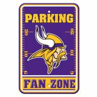 Minnesota Vikings Fan Zone Parking Sign