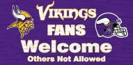 Minnesota Vikings Fans Welcome Wood Sign
