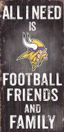 Minnesota Vikings Football, Friends & Family Wood Sign