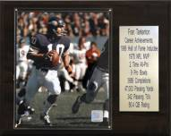 "Minnesota Vikings Fran Tarkenton 12"" x 15"" Career Stat Plaque"
