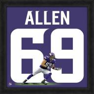 Minnesota Vikings Jake Allen Uniframe Framed Jersey Photo