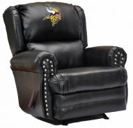 Minnesota Vikings Leather Coach Recliner