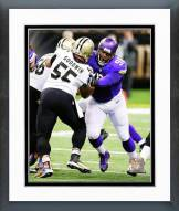 Minnesota Vikings Linval Joseph 2014 Action Framed Photo