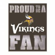 Minnesota Vikings Metal LED Wall Sign