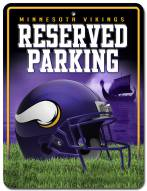 Minnesota Vikings Metal Parking Sign