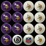Minnesota Vikings NFL Home vs. Away Pool Ball Set