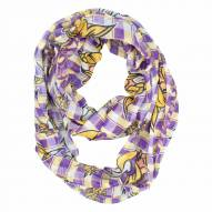 Minnesota Vikings Plaid Sheer Infinity Scarf
