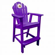 Minnesota Vikings Purple Pub Captain Chair